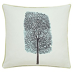 Scion - Light grey cotton panama 'Cedar' cushion
