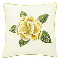 Sanderson - Yellow 'Christabel' cushion