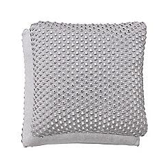 Hotel - Silver cotton 'Coi' cushion