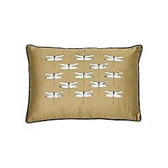 Harlequin - Grey silk 'Demoiselle' cushion