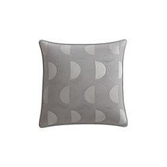 Helena Springfield - Light grey cotton sateen 'Etta' cushion
