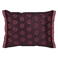 V & A - Dark red polyester 'Fiore' cushion
