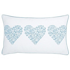 Julie Dodsworth - Blue 'Fledgling' cushion