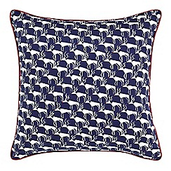 Peacock Blue Loft Collection - Multicoloured 'Flynn' reindeer cushion