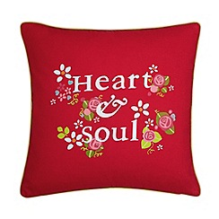 Julie Dodsworth - Red 'Heart & Soul' cushion