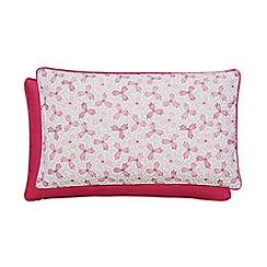 V & A - Multicoloured linen and cotton 'Honeysuckle Trail' cushion