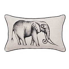 Harlequin - Natural 'Kaledio' elephant cushion