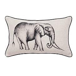 Harlequin - Natural 'Kaledio' elephant cushion