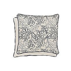 Morris & Co - Dark blue cotton 'Larkspur' cushion