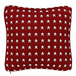 Peacock Blue Loft Collection - Red 'Lincoln' cushion