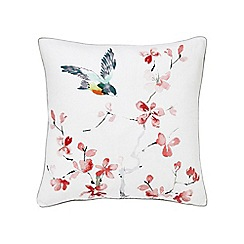 Sanderson - Multicoloured linen 'Magnolia' cushion