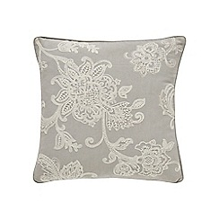 Sanderson - Silver linen and cotton 'Manderley' cushion