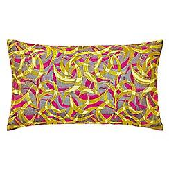 Clarissa Hulse - Multicoloured cotton sateen 'Meadowgrass' cushion