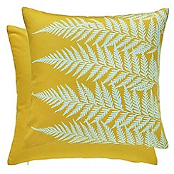 Clarissa Hulse - Aqua cotton canvas 'Mini Patchwork' cushion