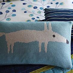 Scion - Blue 'Mr Fox' cushion