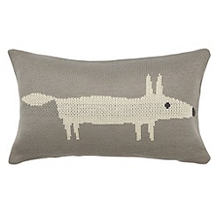 Scion - Silver 'Mr Fox' cushion