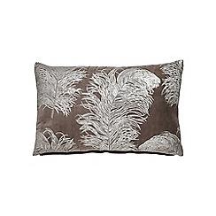 Harlequin - Light brown cotton velvet 'Operetta' cushion