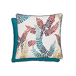 V & A - Multicoloured linen and cotton 'Oriental Peony' cushion