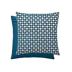 Hotel - Dark turquoise cotton 'Paradis' cushion