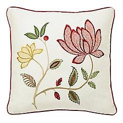 Sanderson - Red 'Pondicherry' cushion