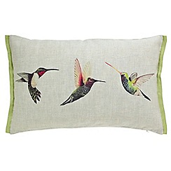 Harlequin - Multicoloured 'Paradise Birds' cushion