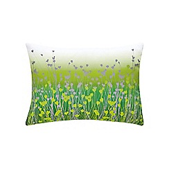 Clarissa Hulse - Light green cotton canvas 'Prairie' cushion