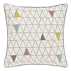 Scion - Multicoloured cotton panama 'Raita Stripe' cushion