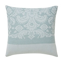 Bedeck - Aqua 'Repose jacquard' cushion