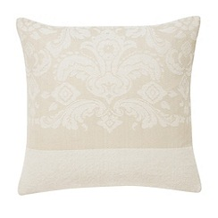 Bedeck - Natural 'Repose jacquard' cushion