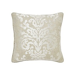 Sanderson - Natural linen 'Riverside Damask' cushion