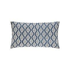 Sanderson - Dark blue linen and cotton 'Rosa' cushion