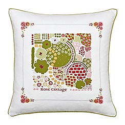 Julie Dodsworth - Multicoloured 'Rose Cottage' cushion