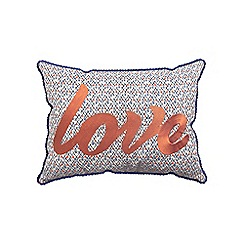 Helena Springfield - Light blue polycotton 'Roxy' cushion
