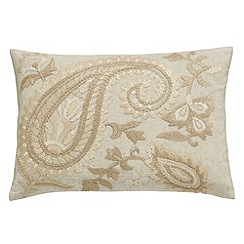 Fable - Natural cotton and linen 'Shivora' cushion