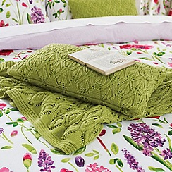 Sanderson - Green 'Spring flowers' cushion & throw