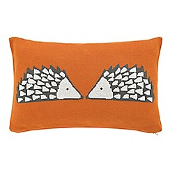 Scion - Dark orange 'Spike' cushion