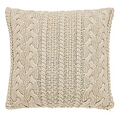 Peacock Blue Loft Collection - Natural 'Stanley' cushion