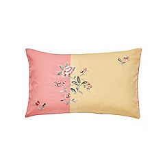 V & A - Pink cotton sateen 'Springtime Posey' cushion
