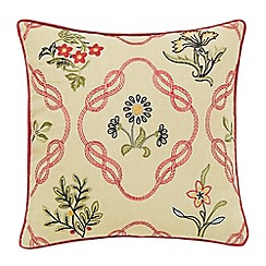 Morris & Co - Red 'Strawberry Thief' cushion