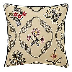Morris & Co - Dark blue 'Strawberry Thief' cushion