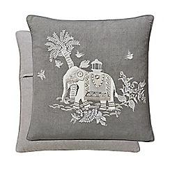 Fable - Dark grey cotton and linen 'Sumatra' cushion