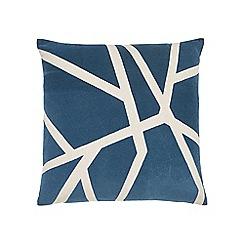 Harlequin - Blue cotton panama 'Sumi' cushion