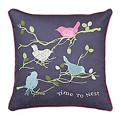 Julie Dodsworth - Multicoloured 'Time To Nest' cushion