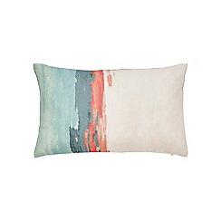 Harlequin - Multicoloured linen 'Verdaccio' cushion