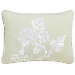 V & A - Light green 'Viennese rose' cushion