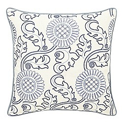 Morris & Co - Blue linen and cotton 'Willow Bough' cushion