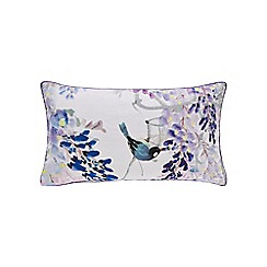 Sanderson - Light purple linen 'Wisteria Falls' cushion