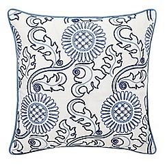 Morris & Co - Light blue 'Willow Bough/Jane's Daisy cushion