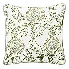 Morris & Co - Light green 'Willow Bough/Jane's Daisy cushion