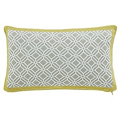 Sanderson - Pale yellow 'Wisteria Blossom' cushion